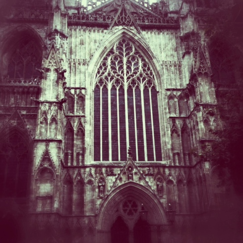 The York Minster. Taken with my iphone using Snapseed editing.